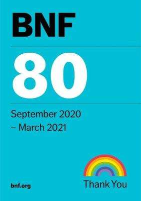 Cover of BNF 80 (British National Formulary) September 2020 - Joint Formulary Committee - 9780857113696