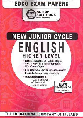 Cover of Edco Exam Papers English Higher Level Junior Cert - Edco - 9780861676347