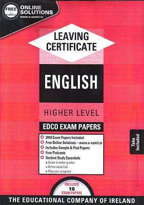Cover of Edco Exam Papers English Higher Level Leaving Cert - Edco - 9780861676682