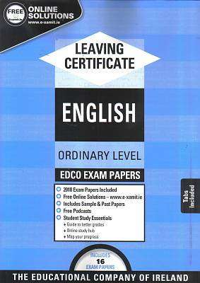 Cover of Edco Exam Papers English Ordinary Level Leaving Cert - Edco - 9780861676699