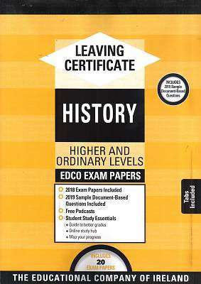 Cover of Edco Exam Papers History Higher & Ordinary Level Leaving Cert - Edco - 9780861676767