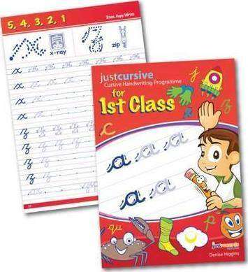 Cover of Just Cursive Handwriting 1: First Class - Denise Higgins - 9780992900656