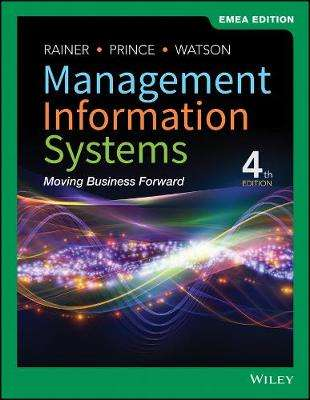 Cover of Management Information Systems - R. Kelly Rainer - 9781119588610