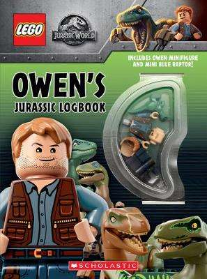 Cover of Owen's Jurassic Logbook (wth Owen minifigure and mini Blue Raptor) - Scholastic - 9781338538045