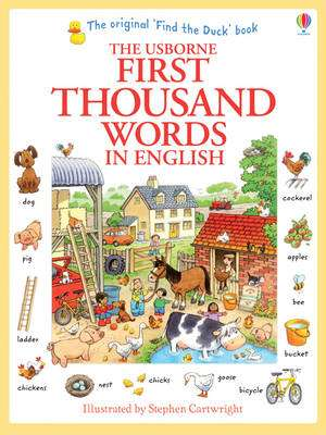 Cover of Usborne First Thousand Words in English - Heather Amery - 9781409562894