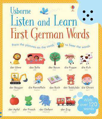 Cover of Listen and Learn First German Words - Mairi Mackinnon - 9781409597728