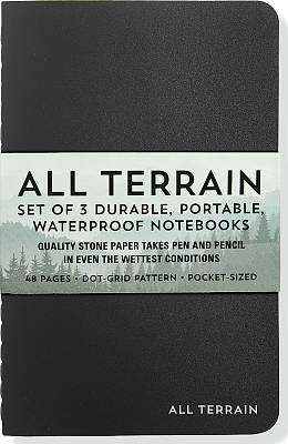 Cover of All Terrain: The Waterproof Notebook: Set of 3 Durable, Portable, Water - Inc Peter Pauper Press - 9781441322852
