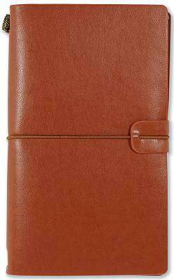 Cover of Voyager Nutmeg Journal - Leather Bound - Peter Pauper Press - 9781441328618