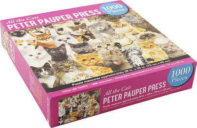 Cover of All the Cats  - 1000 Piece Jigsaw Puzzle - Peter Pauper Press - 9781441334947