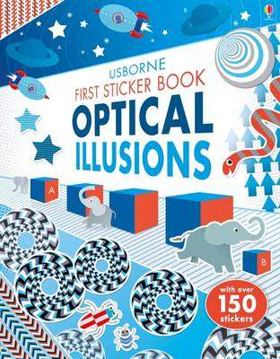 Cover of First Sticker Book Optical Illusions - Sam Taplin - 9781474924061