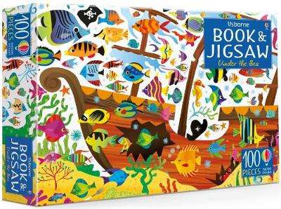 Cover of An Usborne Jigsaw with a Book: Under the Sea - Kirsteen Robson - 9781474927925