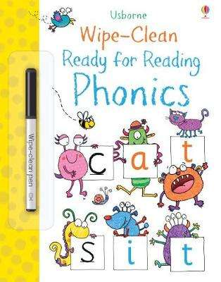 Cover of Wipe-Clean Ready for Reading Phonics - Jane Bingham - 9781474936941