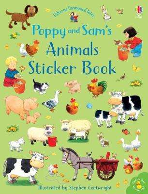 Cover of Poppy and Sam's Animals Sticker Book - Sam Taplin - 9781474952774