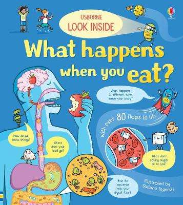 Cover of Look Inside What Happens When You Eat - Emily Bone - 9781474952958