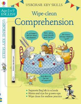 Cover of Wipe-Clean Comprehension 8-9 - Caroline Young - 9781474968546