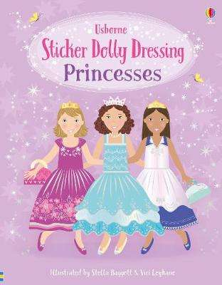 Cover of Sticker Dolly Dressing Princesses - Fiona Watt - 9781474973380