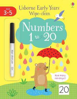Cover of Early Years Wipe-Clean Numbers 1 To 20 - Jessica Greenwell - 9781474986656
