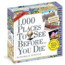 Cover of 1,000 Places to See Before You Die Page-A-Day Calendar 2020 - Patricia Schultz - 9781523506590