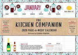 Cover of Kitchen Companion Page-A-Week Calendar 2020 - Workman Publishing - 9781523507221
