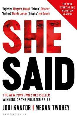 Cover of She Said - Jodi Kantor - 9781526603265