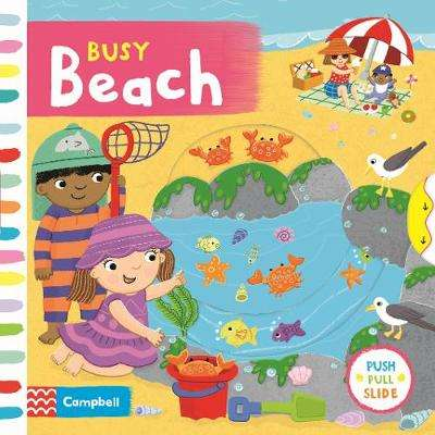 Cover of Busy Beach - Campbell Books - 9781529004175