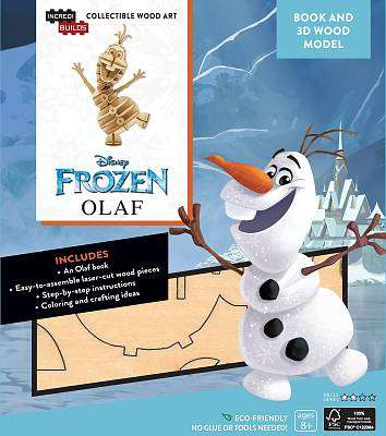 Cover of IncrediBuilds: Disney Frozen: Olaf 3D Wood Model and Book - Insight Editions - 9781682980392