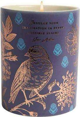 Cover of Jane Austen Dark Blue Bird Ceramic Scented Candle (8.5 oz.) - Insight Editions - 9781682986417