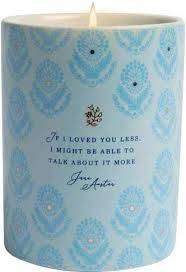 Cover of Jane Austen: If I Loved You Less Scented Candle (8.5 oz.) - Insight Editions - 9781682986424