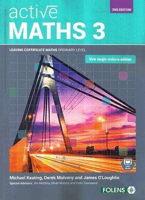 Cover of Active Maths 3 - 2nd Edition Leaving Certificate Ordinary Level - Michael Keating - 9781780907017