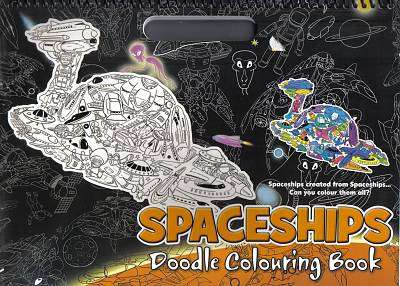 Cover of Spaceships Doodle Colouring Book - 9781783734696