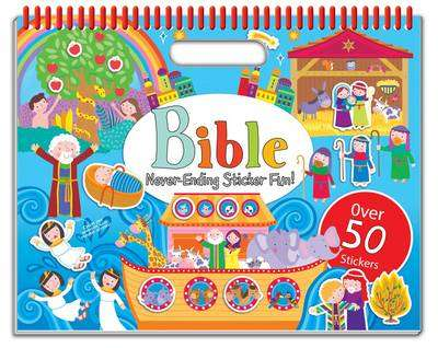 Cover of Bible Never-Ending Sticker Fun!: Over 50 Stickers - North Parade Publishing - 9781786900999