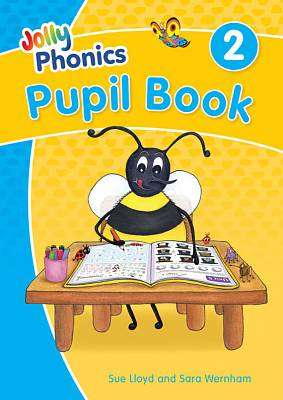 Cover of Jolly Phonics Pupil Book 2: in Precursive Letters - Sara Wernham - 9781844147175