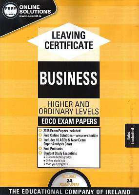 Cover of Edco Exam Papers Business Higher & Ordinary Level Leaving Cert - Edco - 9781845362416