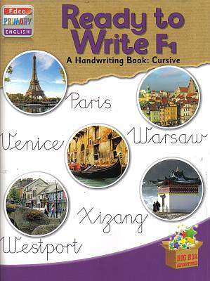 Cover of Ready To Write F1 4th Class Cursive - Edco - 9781845365769