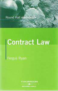 Cover of Round Hall Nutshells Contract Law - Fergus Ryan - 9781858001715