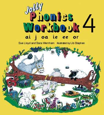 Cover of Jolly Phonics Workbook 4 - Sue Lloyd - 9781870946544