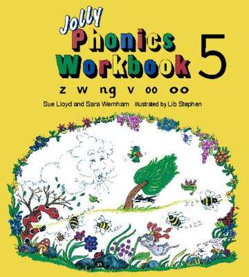 Cover of Jolly Phonics Workbook 5 - Sue Lloyd - 9781870946551