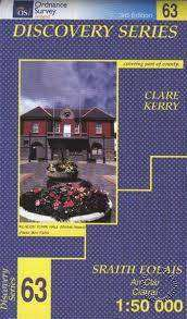 Cover of Discovery Series 63 Clare, Kerry 4th Edition - Ordnance Survey Ireland - 9781907122927