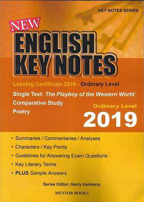 Cover of New English Key Notes Ordinary Level 2019 Leaving Certificate - Gerry Hanberry - 9781909417861