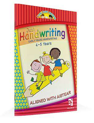 Cover of Just Handwriting Early Years 4-5 Years - Educate.ie - 9781910468296