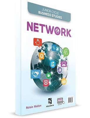 Cover of 1st Edition Network Textbook Activities & Accounts Book & Key Words Book - Roisin Mallon - 9781910468579