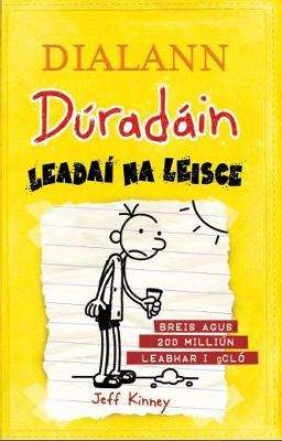 Cover of Dialann Duradain: Leadai na Leisce (Dog Days) - Jeff Kinney - 9781910945353