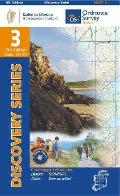 Cover of Discovery Series 3 Donegal 5th Edition - Ordnance Survey Ireland - 9781912140008