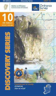 Cover of Discovery Series 10 Donegal 5th Edition - Ordnance Survey Ireland - 9781912140053
