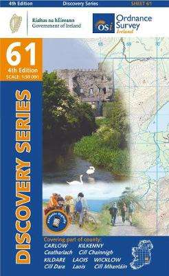 Cover of Discovery Series 61 Carlow, Kildare 5th Edition - Ordnance Survey Ireland - 9781912140114