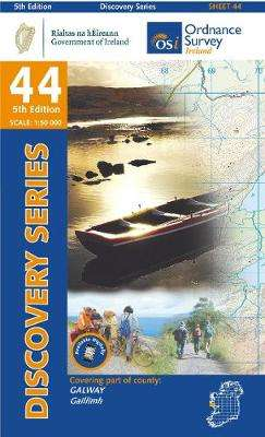 Cover of Discovery Series 44 Galway 5th Edition - Ordnance Survey Ireland - 9781912140169