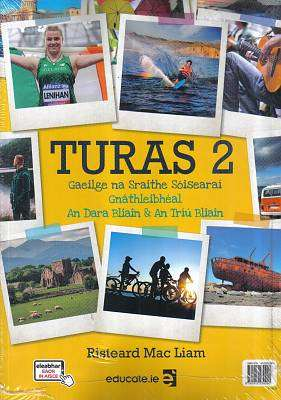 Cover of Turas 2 Textbook & Portfolio - Risteard Mac Liam - 9781912239290