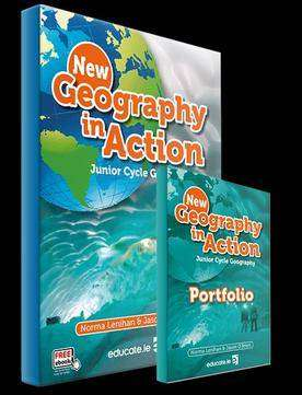 Cover of Geography In Action Textbook & Portfolio Book New Edition 2018 - Norma Lenihan & Jason O'Brien - 9781912239412