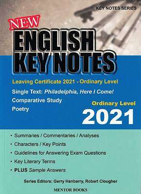 Cover of English Key Notes Ordinary Level 2021 - 9781912514557