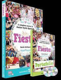 Cover of Fiesta - Junior Cycle Spanish PLUS Portfolio + CDs - Educate.ie - 9781912725601
